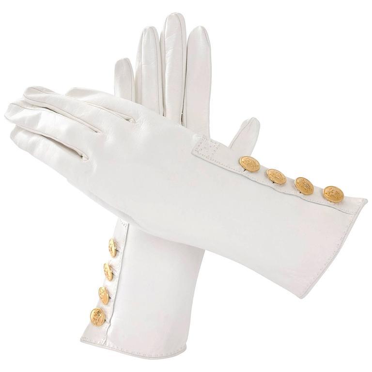 90's Hermes Leather Gloves - like new. 1