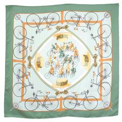 Hermes 1950s 'Les Becanes' Hermes Silk Scarf