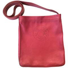 Hermes Crossbody Purse - Red Leather