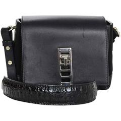 Proenza Schouler Black Leather Mini Elliot Crossbody Bag SHW