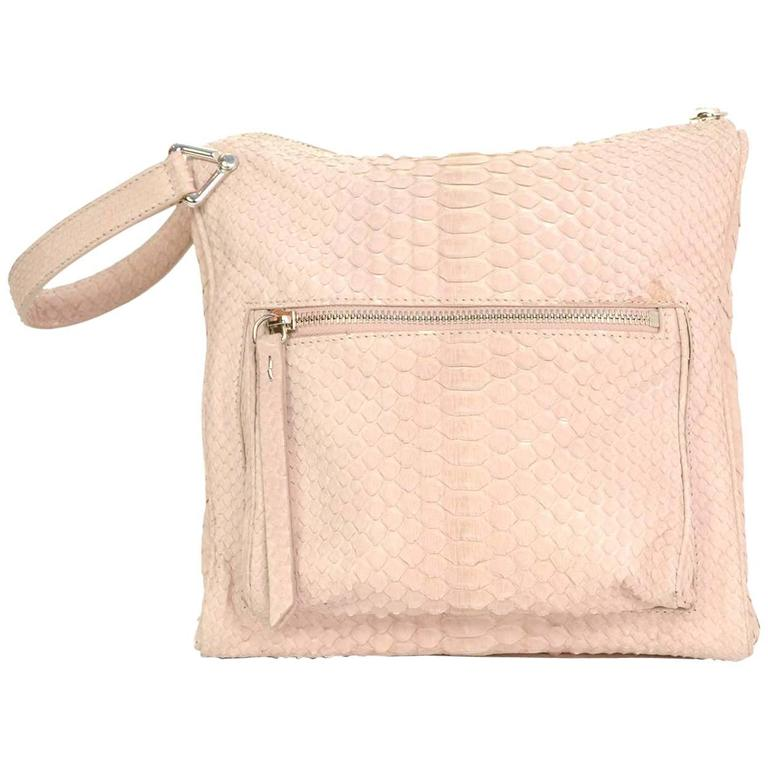 Maison Martin Margiela Pink Python Elaphe Wristlet Clutch Bag rt. $2,365 1