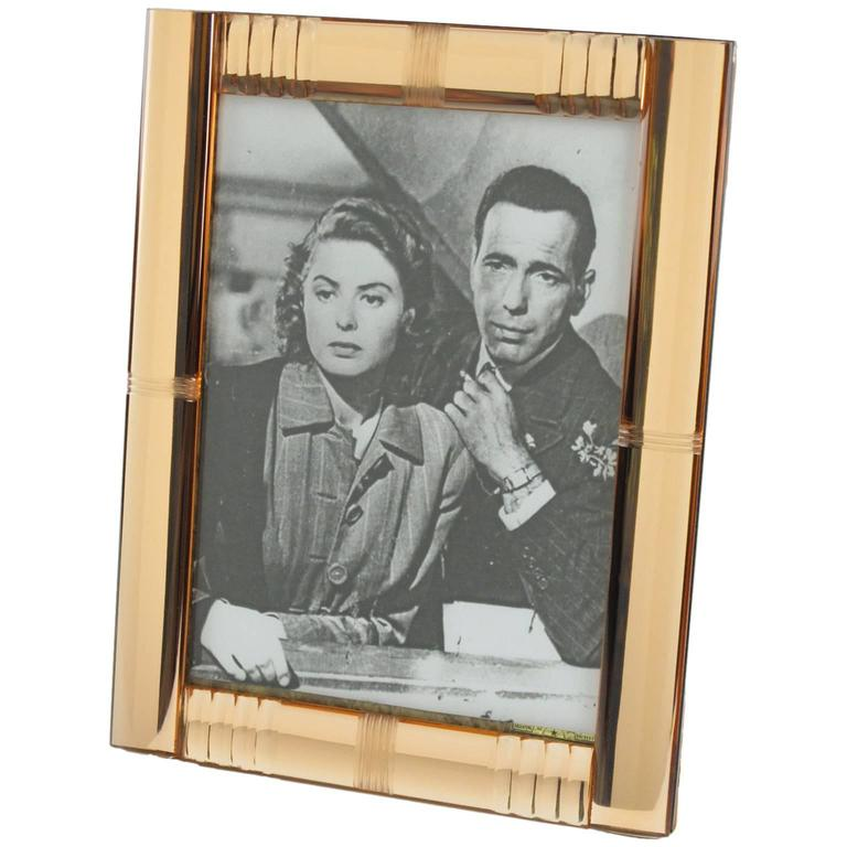 French Vanity Mirrored Picture Photo Frame circa 1940s 1