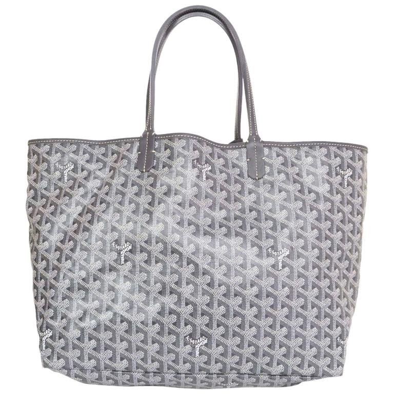 Goyard Grey Chevron Saint Louis Pm Tote Bag For