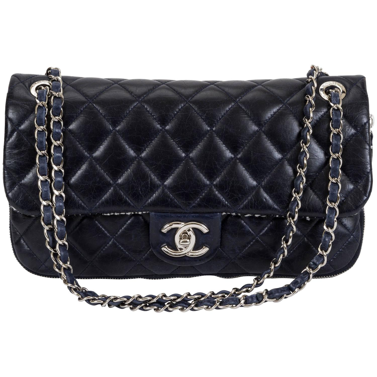 1d7ea32077cb Chanel Tweed Bag Navy Blue | Stanford Center for Opportunity Policy ...