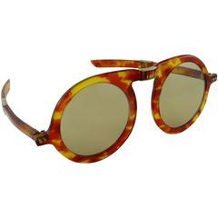 Pierre Cardin Rare Vintage Oversized Folding Sunglasses