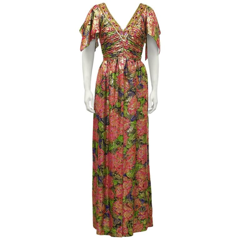 1970's Moroccan Brocade Gown