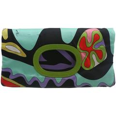 Emilio Pucci Multi-Colored Foldover Clutch