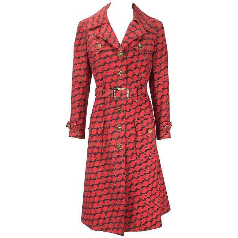 1990s Roberta Di Camerino Red Coat