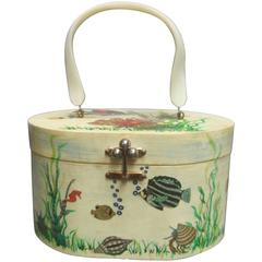 Whimsical Sea Life Decoupage Box Purse by Billie Ross of Palm Beach