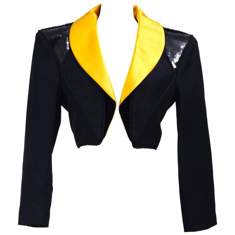 Saint Laurent Rive Gauche Tuxedo Bolero Jacket, 1980s