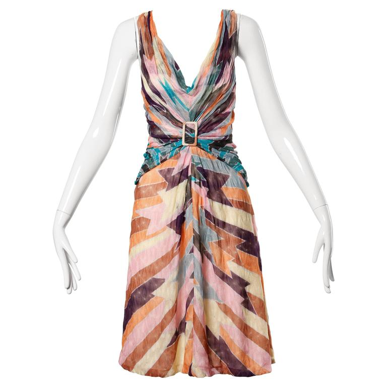 Missoni Color Block Zig Zag Knit Dress