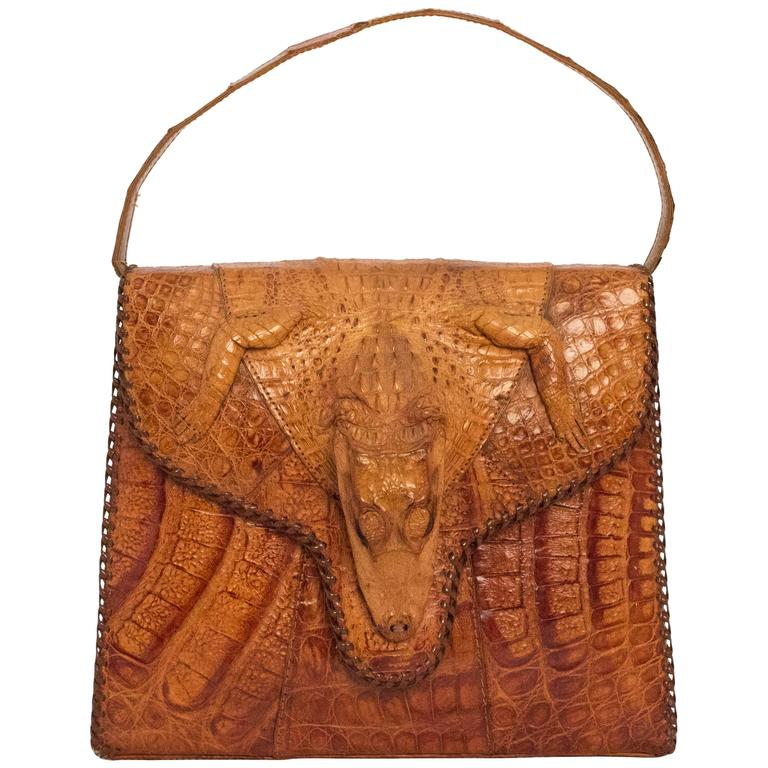 40s Alligator Handbag Made In Cuba For