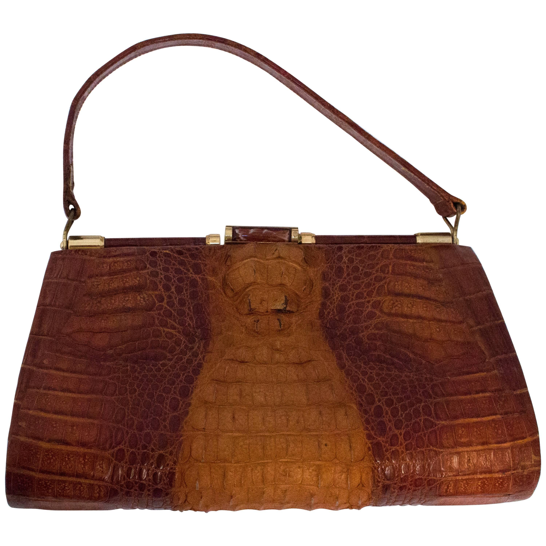 edc0509babf5 60s Alligator Handbag For Sale at 1stdibs