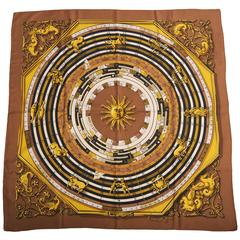 Hermes Astrology Theme Scarf, Dies et Hore