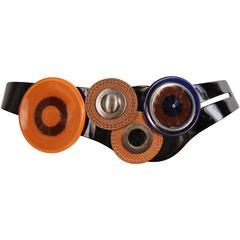 Marni Patent Leather Belt Dramatic Decoration