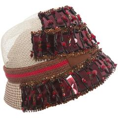Prada Embellished Cloche Hat, Spring - Summer 2005