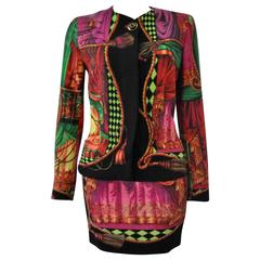 Important and Iconic Gianni Versace 'Teatro' Collection Wool Felt Suit