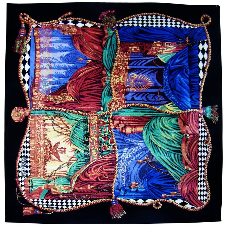"""Exceptionally Rare Ltd. Edition Atelier Versace Hand Knotted """"Teatro"""" Wool Rug 1"""