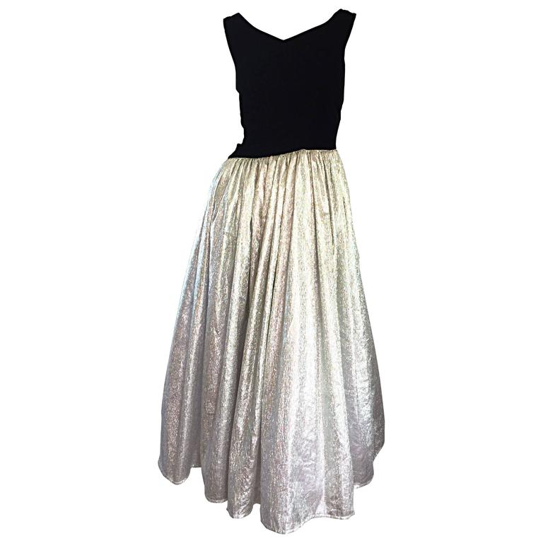 Vintage Silver Cocktail Dress