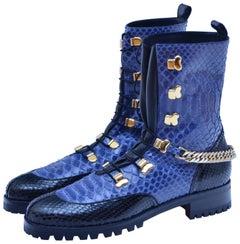 Rare Christian Louboutin Combat Boots Paris Haute Couture Spring  2016 40 New