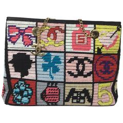 Chanel Precious Symbols Embroidered Patchwork Top Handle Bag (Limited Edition)