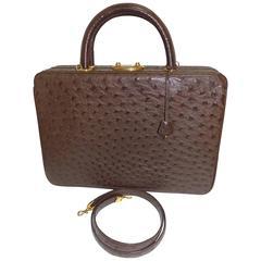 Asprey Vintage  OSTRICH Briefcase /Vanity/ Travel Bag /Case   Rare!!!