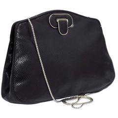 Judith Leiber Black  exotic skin Evening Bag/ Clutch