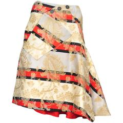 Alexander McQueen Eye Brocade Skirt 2000