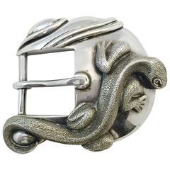 1990 Kieselstein Cord Sterling Salamander Belt Buckle
