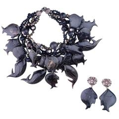 Extravagant Stephen Dweck Collar with Matching Earrings