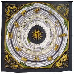 Hermès Astrologie Scarf  by Françoise Faconnet