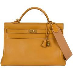 Hermès Kelly 40cm Bag in Natural w/ Strap