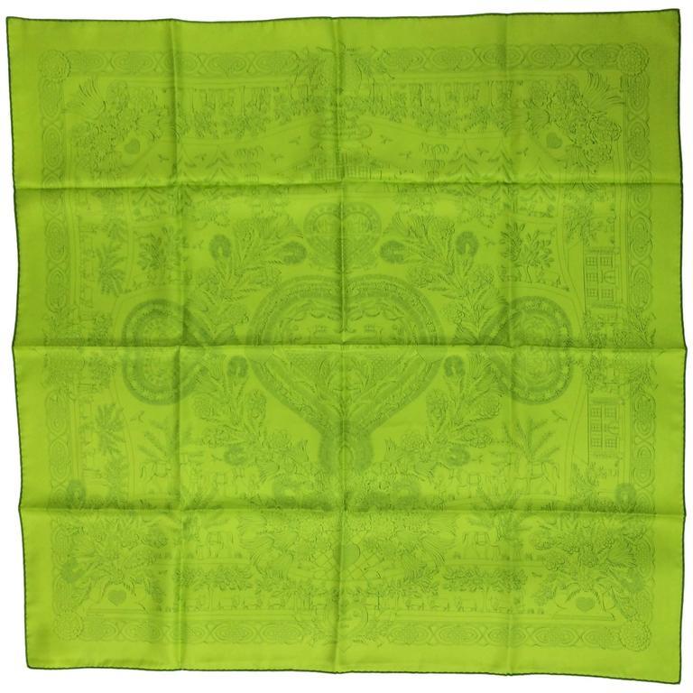 "Hermes silk twill scarf Decoupages Anne Rosat 35"" x 35"" unused"