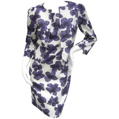 Milly New York Crisp Cotton Floral Jacket / Dress Ensemble
