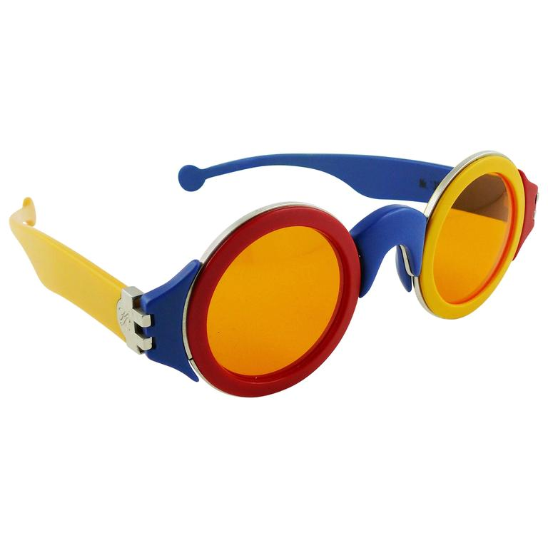 Karl Lagerfeld Vintage Rare 1985 Colorful Sunglasses Limited Edition