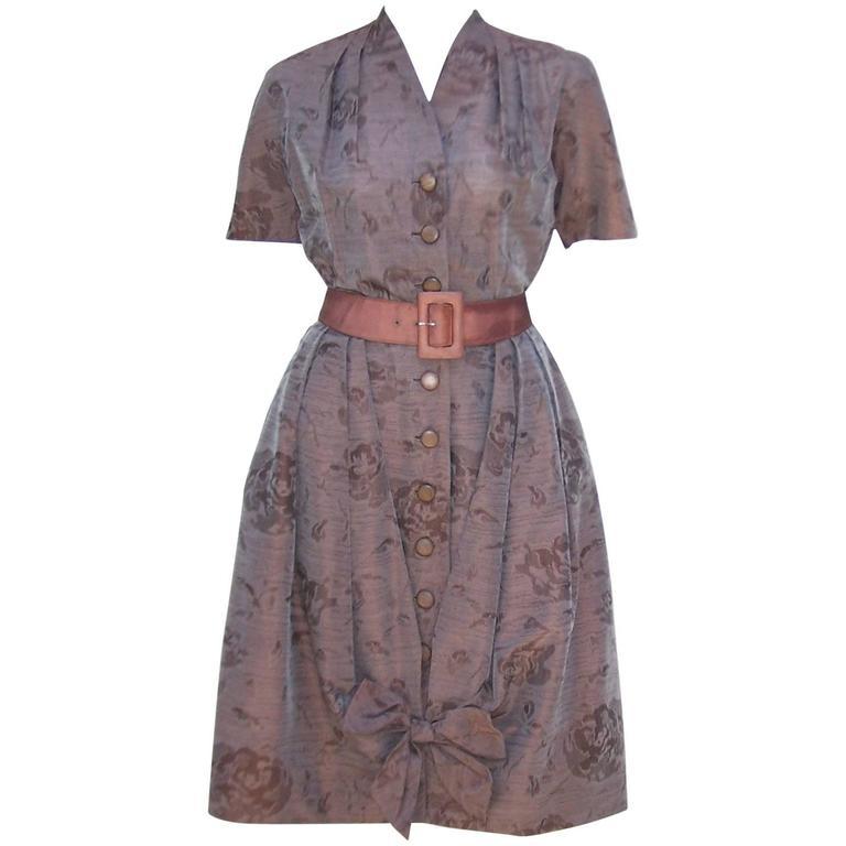 Sweet 1950's Carlye Iridescent Polished Cotton Bubble Dress