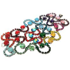Multi-Coloured Swarovski Crystal Bracelet by Frangos