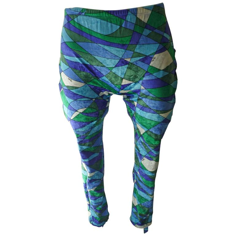 printed performance leggings - Green Emilio Pucci 29BVC7V
