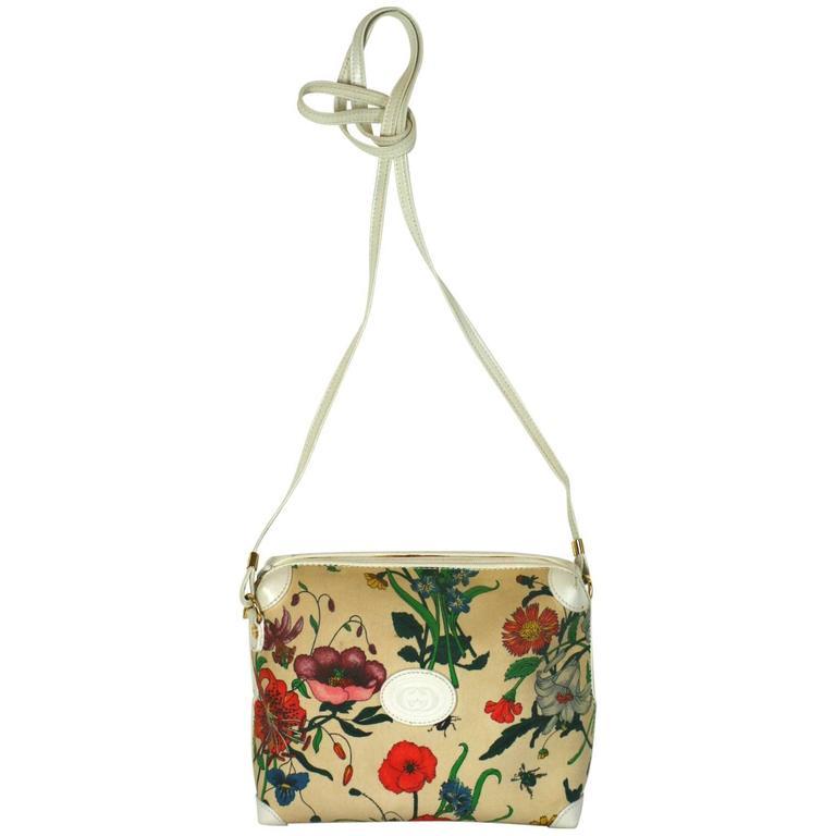 Gucci Floral Print Mini Shoulder Bag