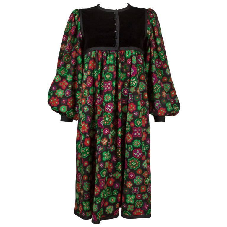 Yves Saint Laurent folk dress, circa 1976