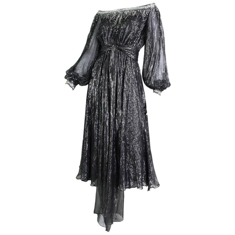 Nolan Miller Cocktail Dress with Sequined Detailing
