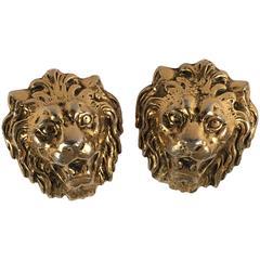 1960s Accessocraft Lion Head Earrings
