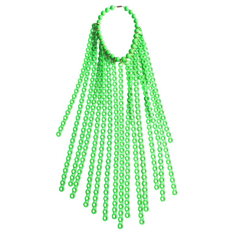 Lime Green 1960s Collar For Sale