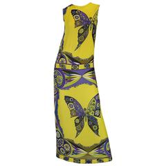 1960s Emilio Pucci Iconic Butterfly Print Silk Dress