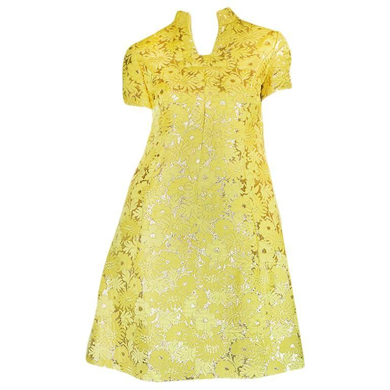c.1968 Early Oscar de la Renta for Jane Derby Silk Dress 1