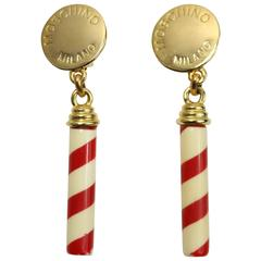 Moschino Candy Cane Earrings