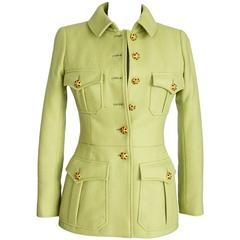 CHANEL 96A Jacket Exquisite Cabochon Jeweled Buttons Wool 36 / 4