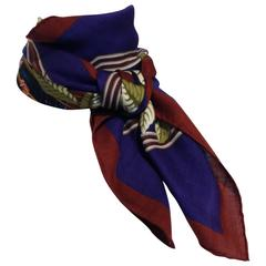 Hermes Cashmere and Silk Les Perroquets Scarf 90cm