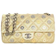 Chanel Gold Quilted CC Medals Jumbo Perforated Lambskin Jumbo Flap Bag rt.$5,800