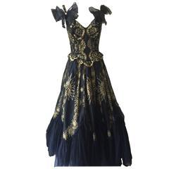 Stunning Vintage Zandra Rhodes Ballgown